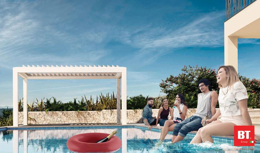 Foto di Pergolato per piscina